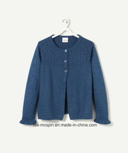 Kid′s Sweater Ture Knitted Cardigan with Lurex for Girls pictures & photos