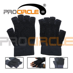Yoga Pilates Fingerless Exercise Grip Yoga Gloves (PC-YG1002) pictures & photos