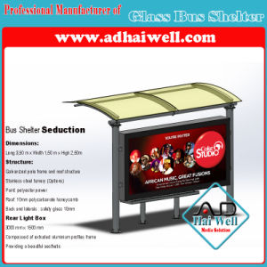 Glass Bus Shelter with Goodand Fashion Design pictures & photos