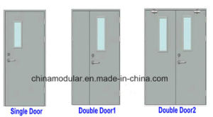 Fire Door with View Glass for Fireproof Entry (CHAM-FRSD02) pictures & photos
