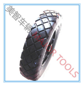 Two Types Diamond Pattern 4.00-8 PU Foam Hand Truck Wheel pictures & photos