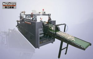 Right Angle Flat-belt Paper Handle Making Machine (WFD100-2) pictures & photos