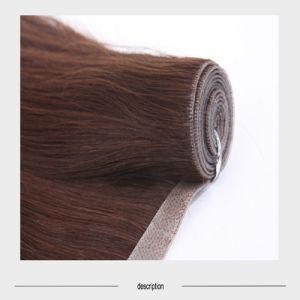 Seamless PU Skin Weft Human Hair pictures & photos
