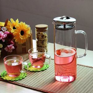 1200ml High Borocilicate Glass Water Pot pictures & photos