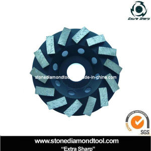 "7"" Spiral Diamond Abrasive Grinding Disc Cup Wheel pictures & photos"