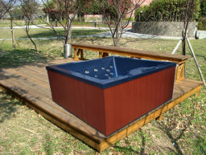 Monalisa Acrylic Square Outdoor SPA Tubs Massage Whirlpools Hot Tub pictures & photos