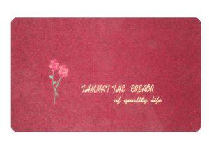 PVC Back Embroidery Door Mat pictures & photos