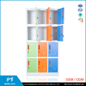 China Supplier Low Price 12 Door Metal Clothes Locker / Colorful Locker pictures & photos