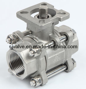 3 Piece Mounting Pad Ball Valve pictures & photos