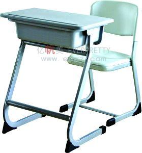 Wholesale Antique School Furniture Student Fixed Single Desk & Chair pictures & photos