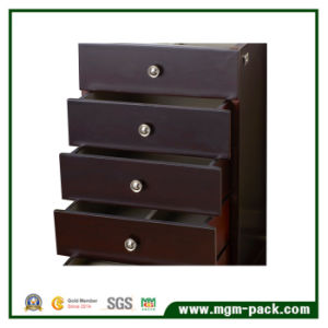 Tranditional Style Black Wooden jewellery Storage Box with 4 Drawers pictures & photos