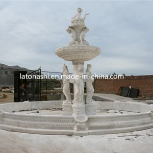 Marble Stone Carved Garden / Landscaping Water Fountain with Angel Sculpture pictures & photos