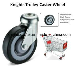 Black Rubber Swivel Trolly Caster Wheel
