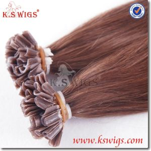 U-Tip Nail Hair Extension Virgin Brazilian Human Hair pictures & photos