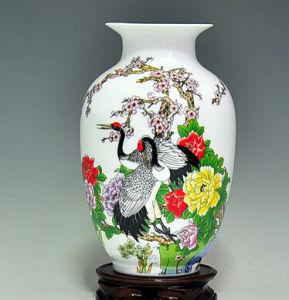 Jingdezhen Porcelain Ceramic Vase Chinese Hand Painting Porcelain Vase Phoenix & Flowers