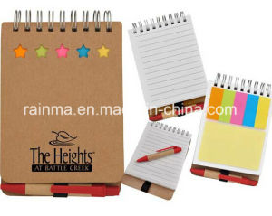 Mini Notebook with Memo Stickery and Ball Pen pictures & photos