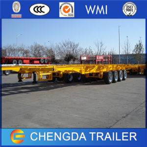 New 3 Axle Container Skeleton Semi Trailer for Sale pictures & photos