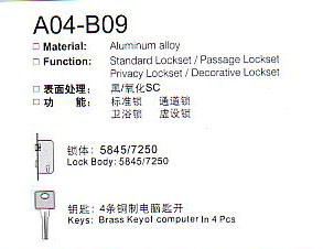 A04-B09 Aluminium Alloy Door Lock Series pictures & photos