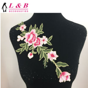 Hot Selling! ! ! Multicoloured Large Flower Appliques Embroidery Patch pictures & photos