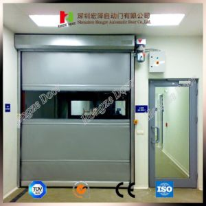 Factory Poly Carbonate Rapid Rolling High Speed Grey Colour PVC Curtain Door pictures & photos
