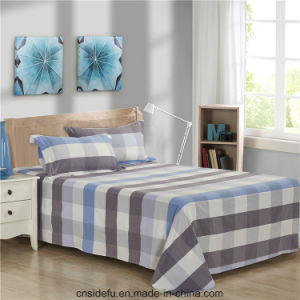 Luxury 100% Cotton Yarn Dyed Bed Sheet Bedding Set pictures & photos