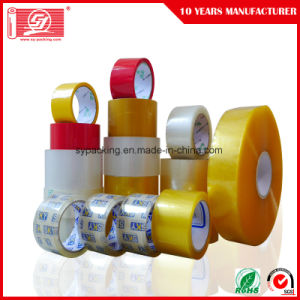 Good Viscosity Carton Seal Tapes Water Based Acrylic Adhesive Clear BOPP Packing Tapes pictures & photos