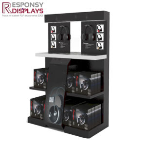 Unique Design Grand Earphone Flooring Stand Display Rack with LED Light pictures & photos