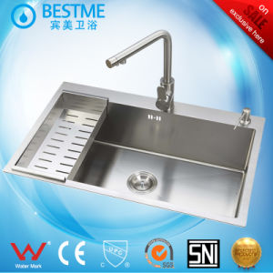 Hand Make Stainless Steel Big Single Bowl Sink pictures & photos