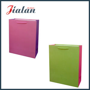Different Color Film Blank No Logo Holographic Paper Shopping Bag pictures & photos