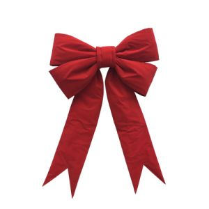Handmade Velvet Red Christmas Decoration Bow Wholesale pictures & photos