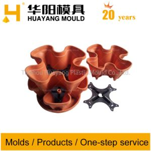 Stackable Flowerpot with Leaking Plate Mould pictures & photos