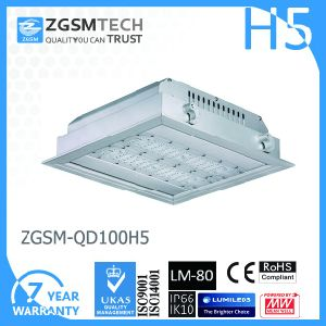 Square 100W LED Parking Garage Canopy Light 120lm/W pictures & photos