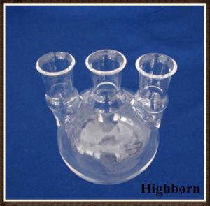 Transparent Quartz Glass or Borosilicate Glass Flask with Three Necks pictures & photos