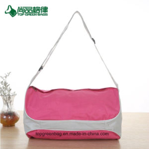 Hot Selling Multi-Functional Cylinder Duffel Bag Pink Travel Bag pictures & photos