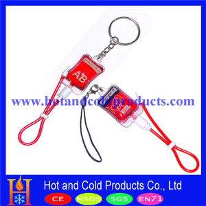 Blood Group Keychain and Pendant with Artificial Blood Inside