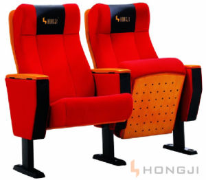 Ergonomic Design Wooden Arm Slow Return Seat Auditorium Chair (HJ105) pictures & photos