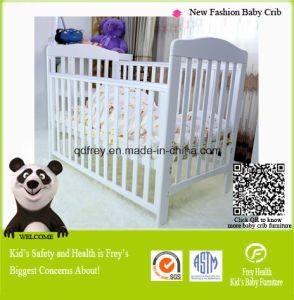 European Style White Pine Wood Furniture of Cot