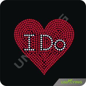Love Series Love Heart Motif Hotfix Rhinestone