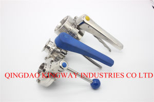 Sanitary Butterfily Valve with Multi-Position Handle, pictures & photos