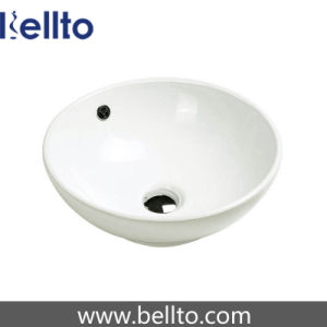 Round Ceramic Bowl Wash Sink for Small Bathroom (3008A) pictures & photos