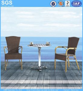 Outdoor Dining Set Bamboo Aluminum Rattan Chair and Table pictures & photos