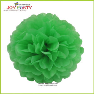 Green Paper POM Poms for Christmas and New Year pictures & photos