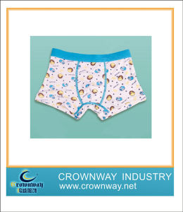 Boys Cotton Printing Boxer Underwear with Jacquard Waistband pictures & photos