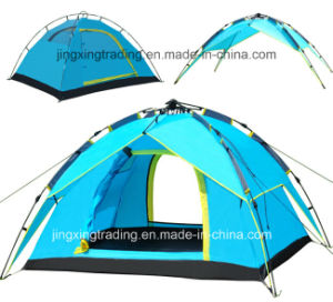 Outdoor Automatic Polyester Camping Tent for 3 - 4 Persons (JX-CT023-2) pictures & photos