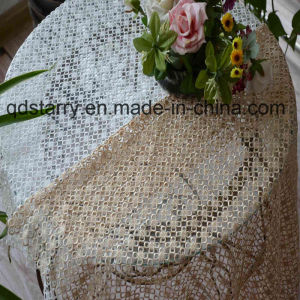 Machine Made 100% Polyester Lace Table Cloth pictures & photos