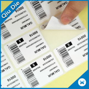 Free Samples Die Cut Size Stickers with Upc / Barcode pictures & photos