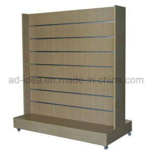 MDF Slatwall Free Display Stand pictures & photos