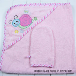 High Quality of Hooded Bath Towel and Wash Cloth Set pictures & photos