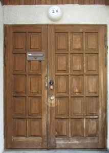 Bm Trada Solid Wood Fire Door with UL Certified pictures & photos