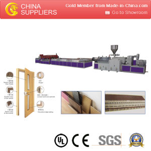 PVC WPC Hollow Foamed Door Extrusion Line pictures & photos